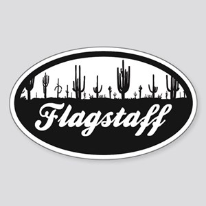 Flagstaff AZ Flag Sticker (Oval)