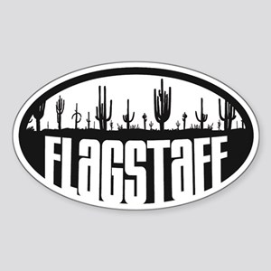 Flagstaff AZ Flag Sticker (Oval)