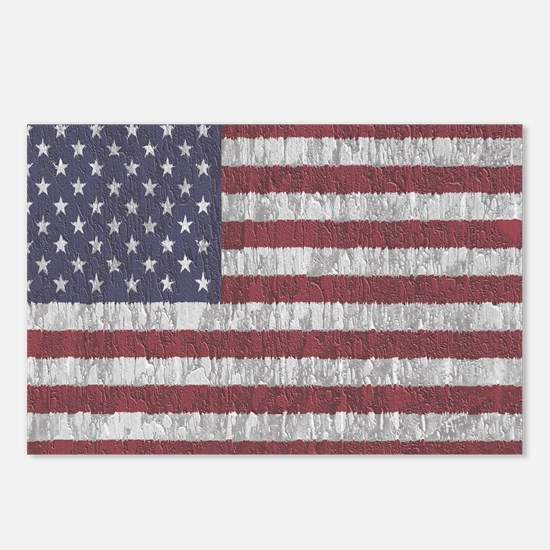 Aged American Flag Postcards (Package of 8)