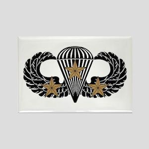 Combat Parachutist 3rd Award B-W Rectangle Magnet