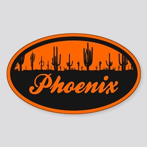 Phoenix AZ Flag Sticker (Oval)