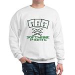 Software Pirate 5.25 Floppy Sweatshirt