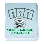 Software Pirate 5.25 Floppy baby blanket