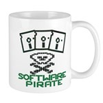 Software Pirate 5.25 Floppy Mug