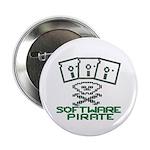 "Software Pirate 5.25 Floppy 2.25"" Button"