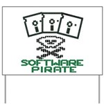 Software Pirate 5.25 Floppy Yard Sign