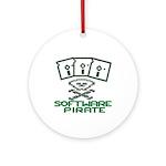 Software Pirate 5.25 Floppy Ornament (Round)