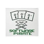 Software Pirate 5.25 Floppy Throw Blanket