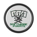 Software Pirate 5.25 Floppy Large Wall Clock