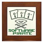 Software Pirate 5.25 Floppy Framed Tile