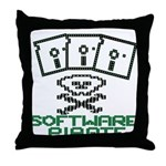 Software Pirate 5.25 Floppy Throw Pillow