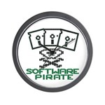 Software Pirate 5.25 Floppy Wall Clock