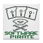 Software Pirate 5.25 Floppy Tile Coaster