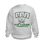 Software Pirate 5.25 Floppy Kids Sweatshirt