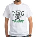 Software Pirate 5.25 Floppy White T-Shirt
