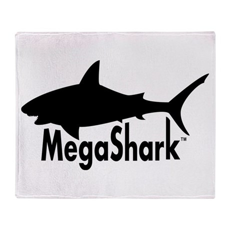 MegaShark logo Throw Blanket