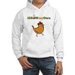 iGrowMyOwn: Chicken: Style 01A Hooded Sweatshirt