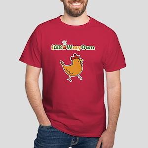 iGrowMyOwn: Chicken: Style 01B Dark T-Shirt