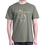 iGrowMyOwn: Chicken: Style 01C Dark T-Shirt