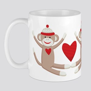 Couples Sock Monkey Mug