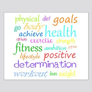 Fitness Collage Small Poster