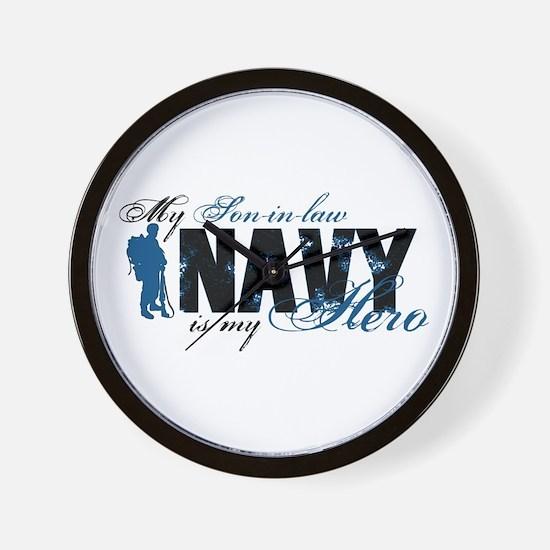 Son-in-law Hero3 - Navy Wall Clock