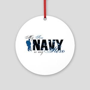 Son Hero3 - Navy Ornament (Round)