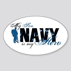 Son Hero3 - Navy Sticker (Oval)