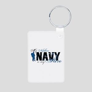 Nephew Hero3 - Navy Aluminum Photo Keychain