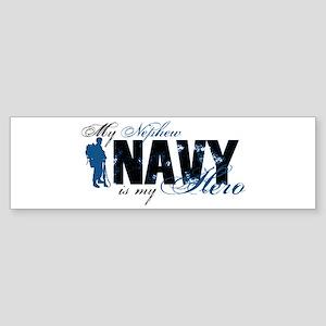 Nephew Hero3 - Navy Sticker (Bumper)