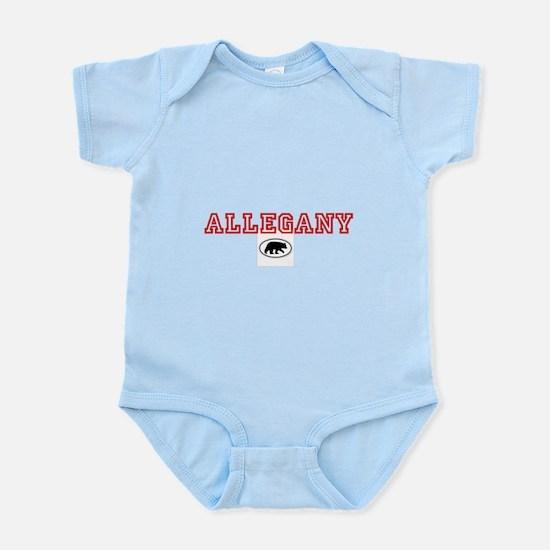Red Allegany Bear Infant Bodysuit