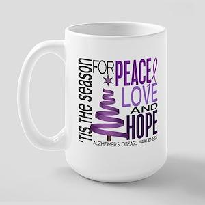 Christmas 1 Alzheimer's Disease Large Mug