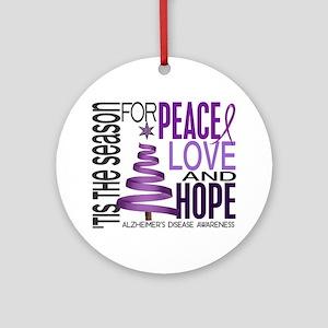 Christmas 1 Alzheimer's Disease Ornament (Round)