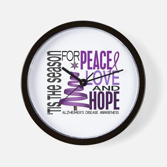 Christmas 1 Alzheimer's Disease Wall Clock