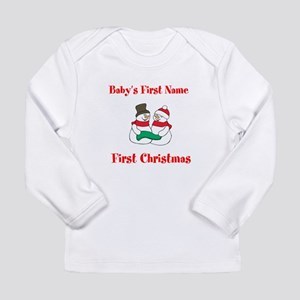 Personalized First Christmas Long Sleeve Infant T-