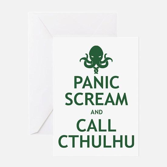 Panic Scream and Call Cthulhu Greeting Card