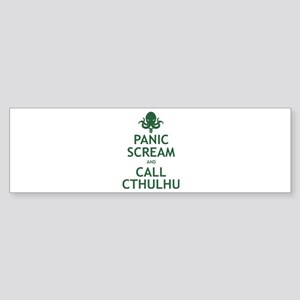 Panic Scream and Call Cthulhu Sticker (Bumper)