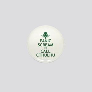 Panic Scream and Call Cthulhu Mini Button