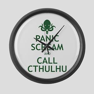 Panic Scream and Call Cthulhu Large Wall Clock