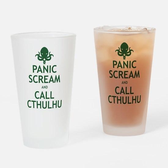 Panic Scream and Call Cthulhu Drinking Glass
