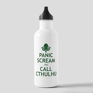 Panic Scream and Call Cthulhu Stainless Water Bott