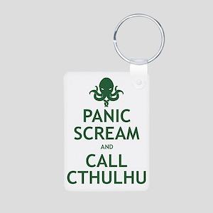 Panic Scream and Call Cthulhu Aluminum Photo Keych
