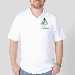 Panic Scream and Call Cthulhu Golf Shirt