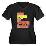 The Price IS Wrong Bitch Women's Plus Size V-Neck