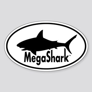 MegaShark logo Sticker (Oval)
