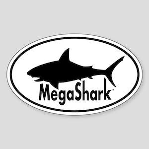 MegaShark logo Sticker (Oval)