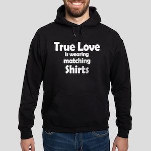 Love is matching Shirts Hoodie (dark)