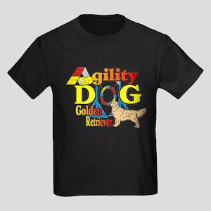 Golden Retriever Agility Kids Dark T-Shirt