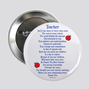 "Teacher Thank You 2.25"" Button"