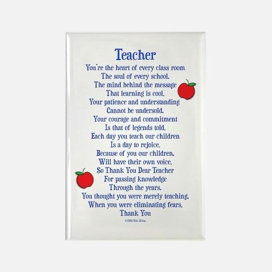 Teacher Thank You Rectangle Magnet